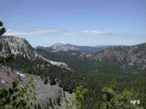 A view in Mountain Lakes Wilderness