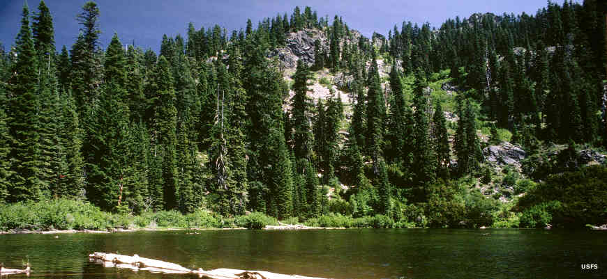 A lake in Red Buttes Wilderness