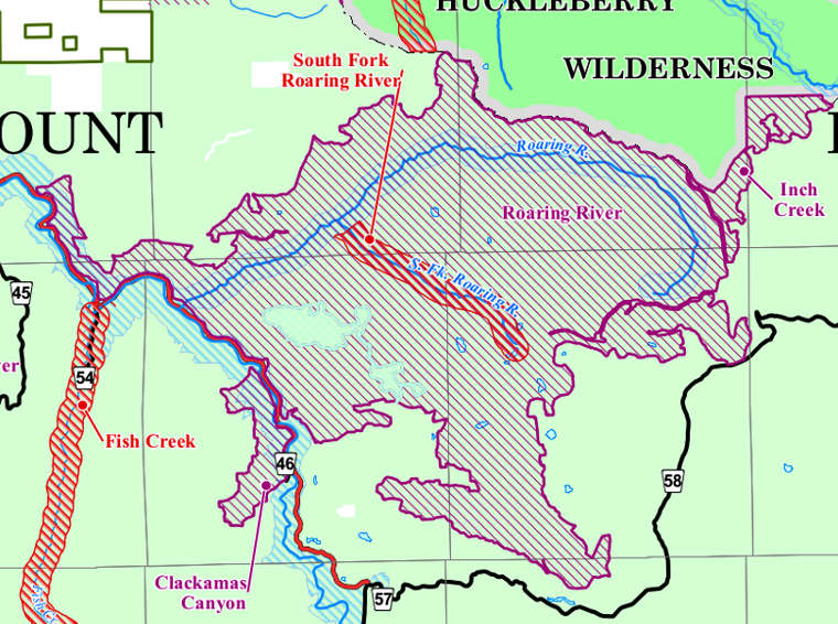 Map of Roaring River Wilderness