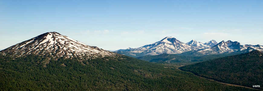 Three Sisters, Broken Top and Mount Bachelor