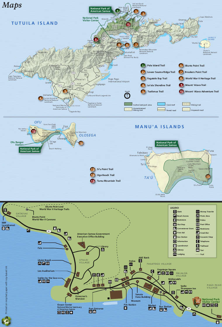 National Park of American Samoa National Park Service Sites