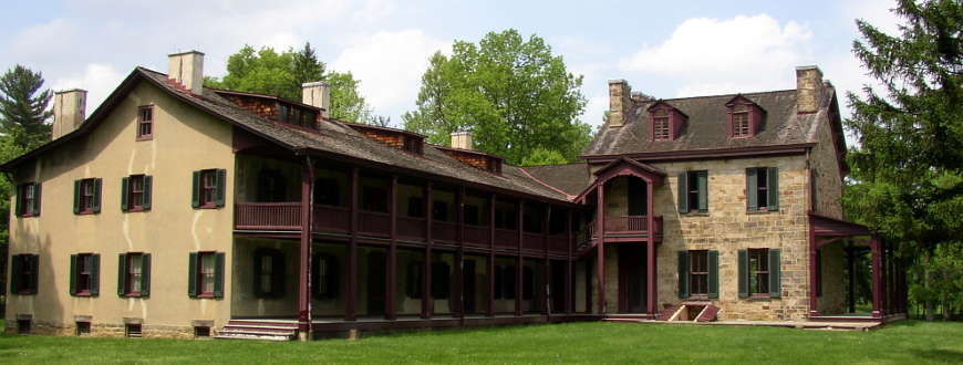 The main house at the Friendship Hill National Historic Site