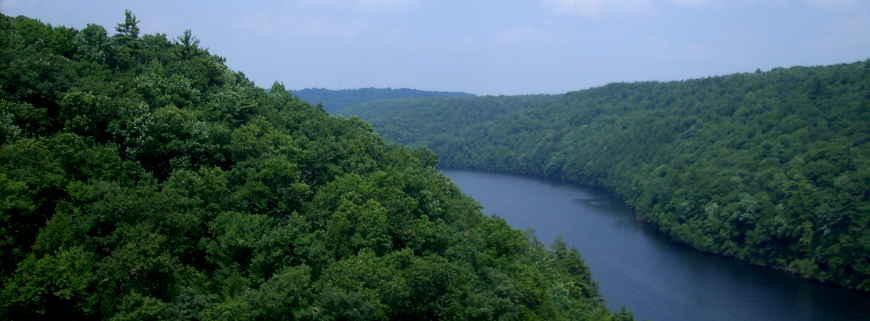 A view along the Clarion River