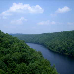 Looking down on the Clarion River