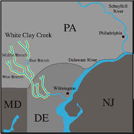 White Clay Creek map