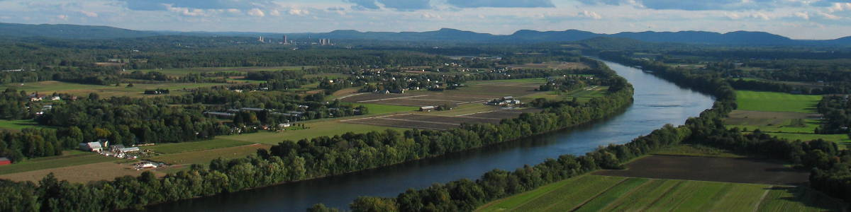 Massachusetts: A view to the south in the Connecticut River Valley