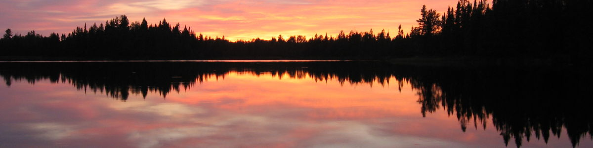 A sunset view at Pose Lake in northern Minnesota