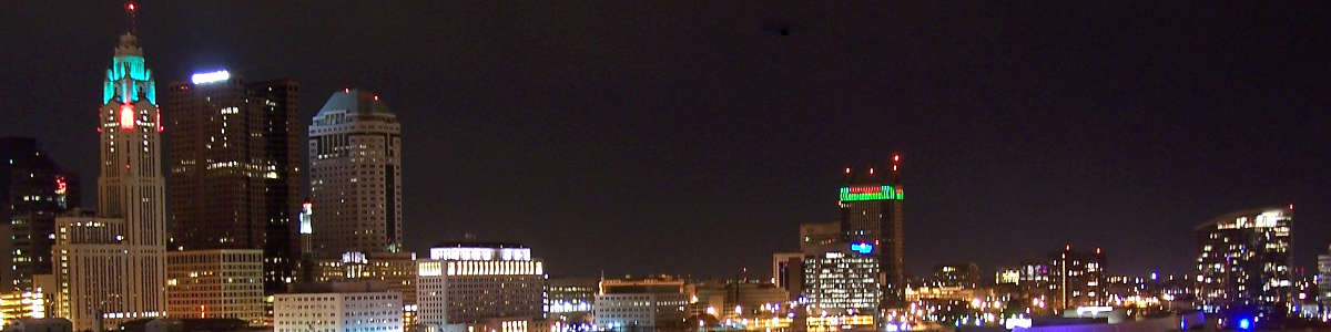 Ohio: The Columbus skyline after dark