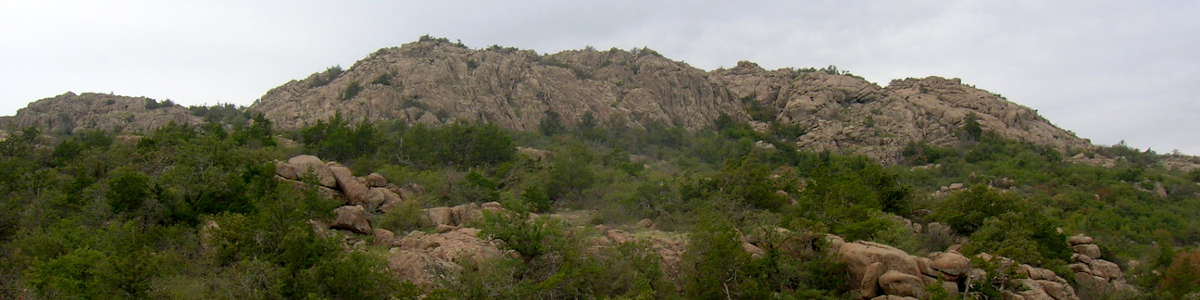 Oklahoma: A view of the top while climbing Elk Mountain