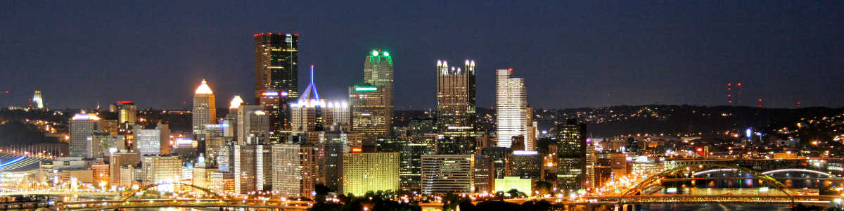Pennsylvania: The Pittsburgh skyline at night