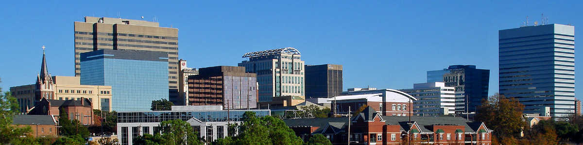 South Carolina: The Columbia skyline from Arsenal Hill