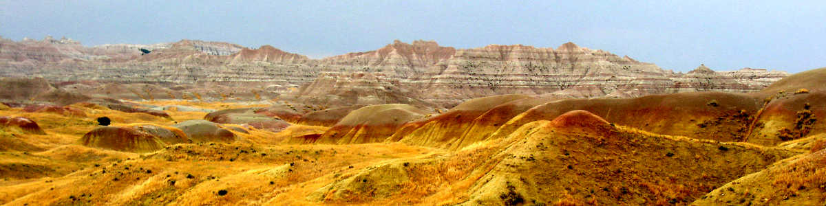 South Dakota: A typical view in the Badlands National Park area
