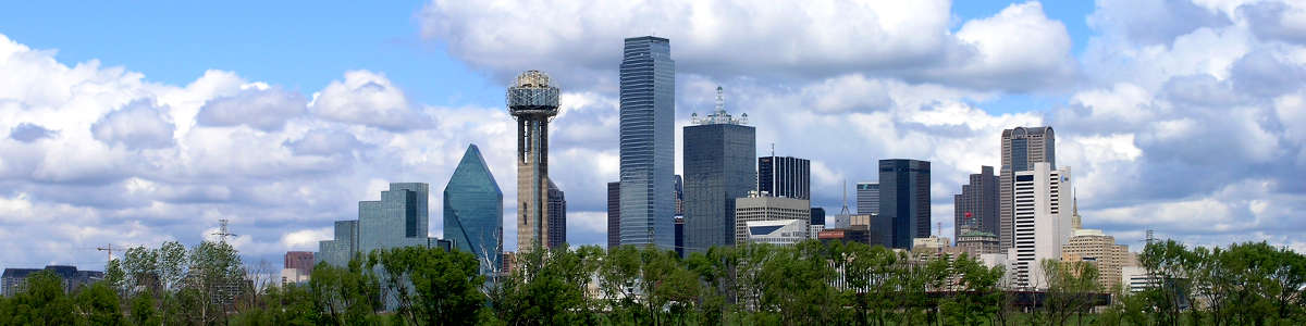 Texas: A view of the Dallas skyline at mid-day