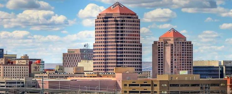 The Albuquerque skyline