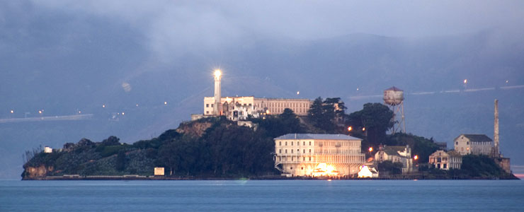 Alcatraz Island at dawn