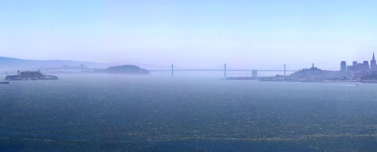 View from the Marin Headlands, Golden Gate National Recreation Area