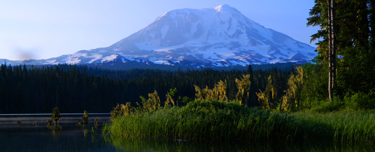 Mount Adams from Takhlakh Lake