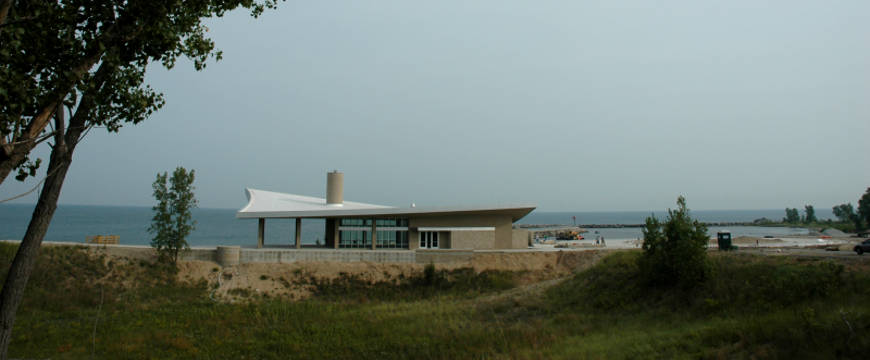 The Portage Lakefront Visitor Center at Indiana Dunes National Lakeshore