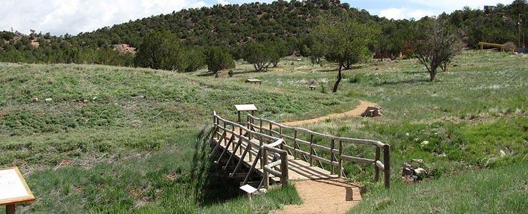 The walking trail around the Tijeras Pueblo site