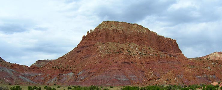 Typical Abiquiu area rock formation