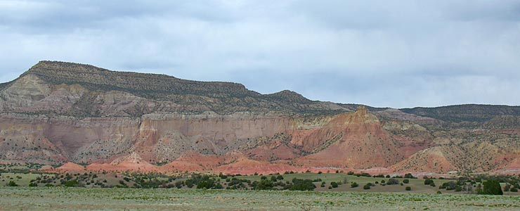Typical Abiquiu area landforms
