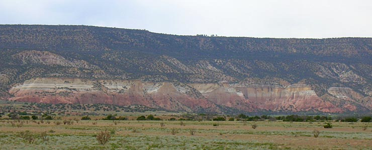 Typical Abiquiu area geology