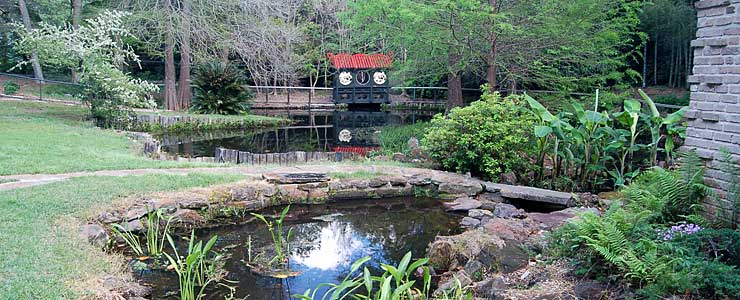 A Japanese garden on Dauphin Island along Alabama's Coastal Connection