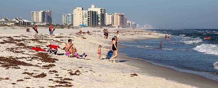 White sand Gulf beaches