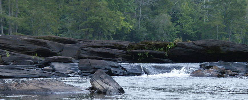 The Tallapoosa River Shoals near Horseshoe Bend National Military Park