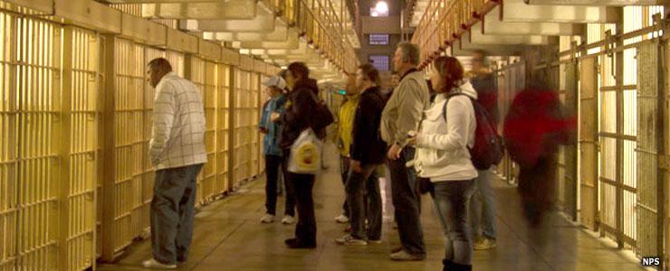 Cellblock tour at Alcatraz Island