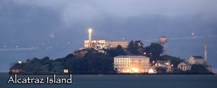 Alcatraz Island at dawn