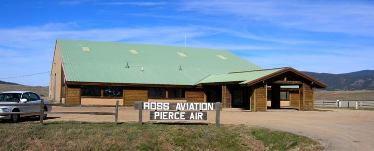 The terminal at Angel Fire Airport