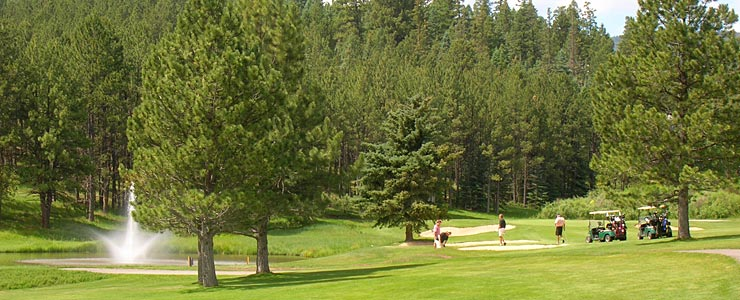 On the Angel Fire Golf Course