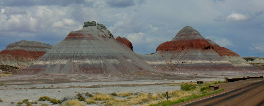 A view of the Teepees in Petrified Forest National Park
