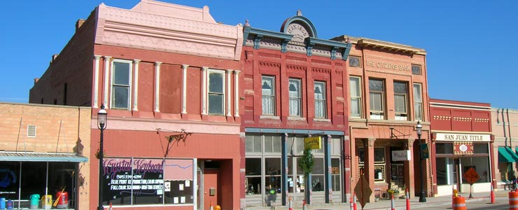 In downtown Aztec, New Mexico
