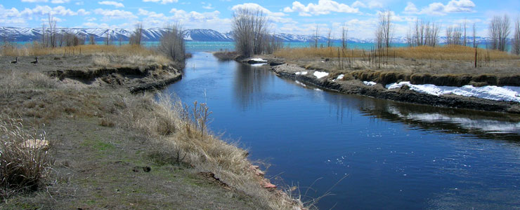 The outlet from Mud Lake to Bear Lake, Bear Lake National Wildlife Refuge