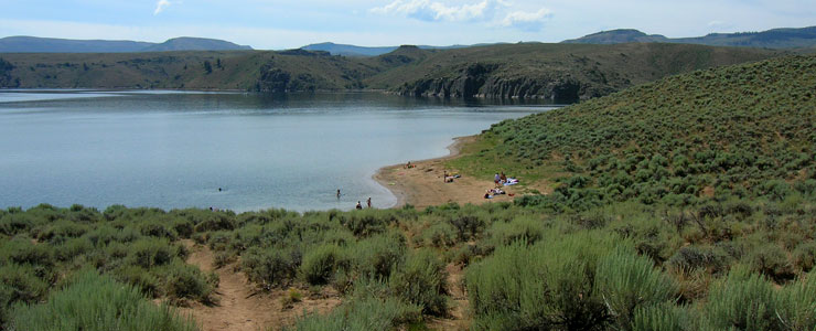A swim beach on Blue Mesa Lake