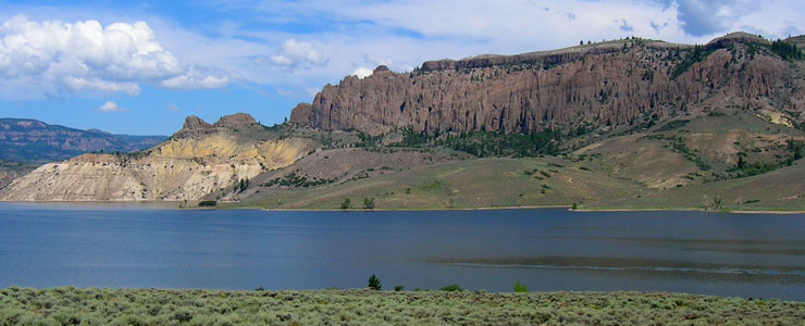 Volcanic tuffa on the north side of Blue Mesa Lake