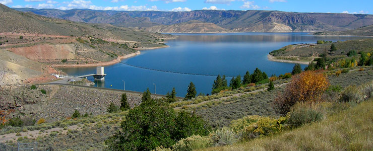 The dam on Blue Mesa Lake