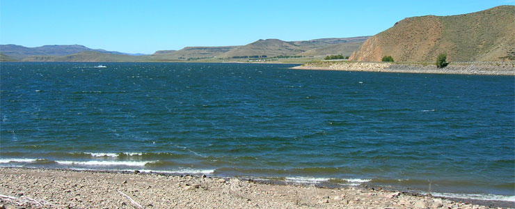 A view across Blue Mesa Lake