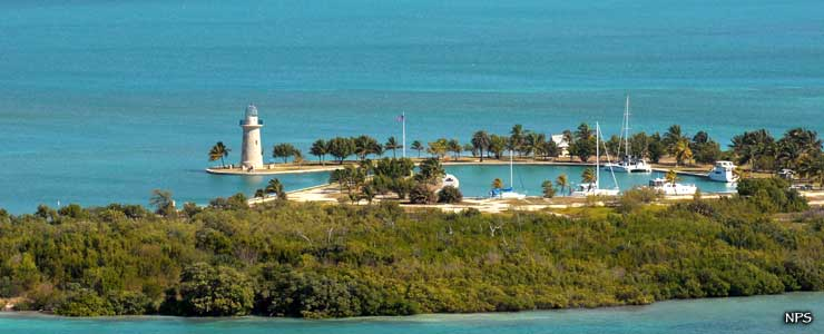 Boca Chita Key, harbor and lighthouse