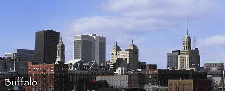 The Buffalo skyline