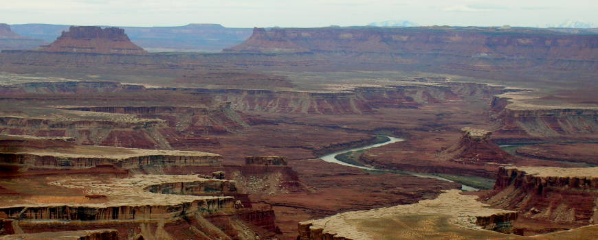 Looking southwest from Island in the Sky, Canyonlands National Park, Utah