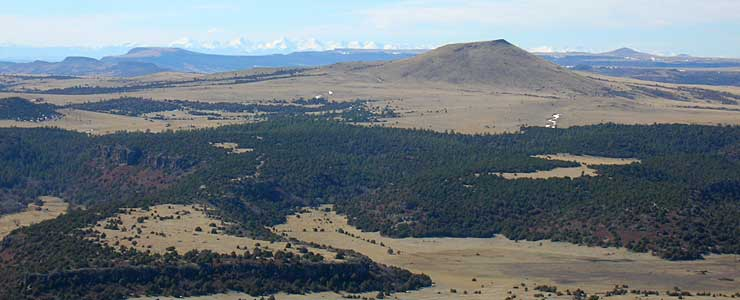 The view from the top of Capulin Volcano