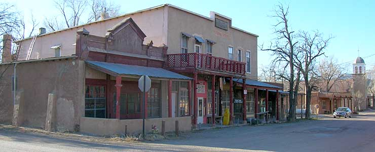 The old Cerrillos Hotel