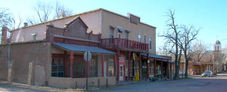 The old Los Cerrillos Hotel