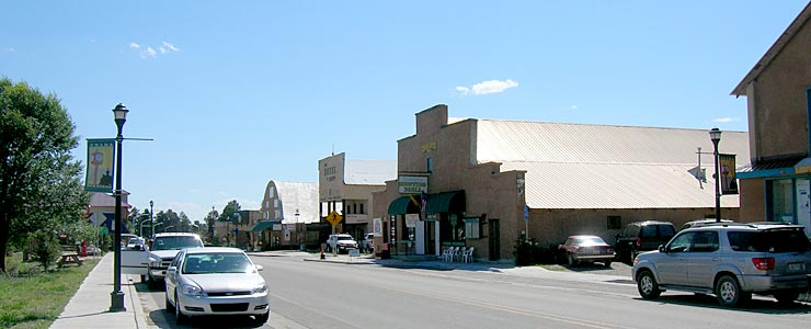 Main Street in Chama, New Mexico