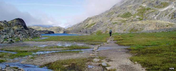 Near the Chilkoot Trail summit