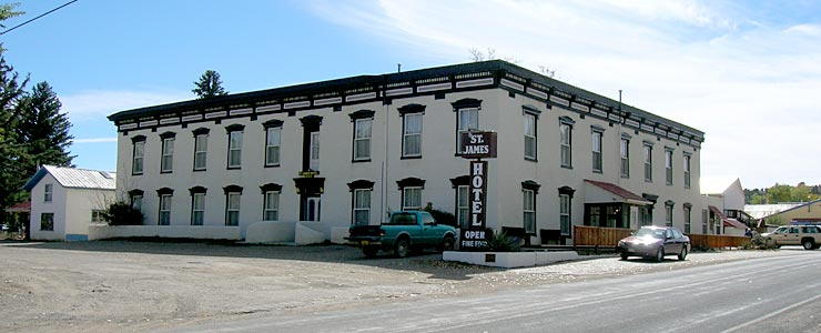The famous St. James Hotel in Cimarron