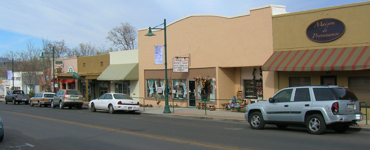 In downtown oldtown Cottonwood, Arizona